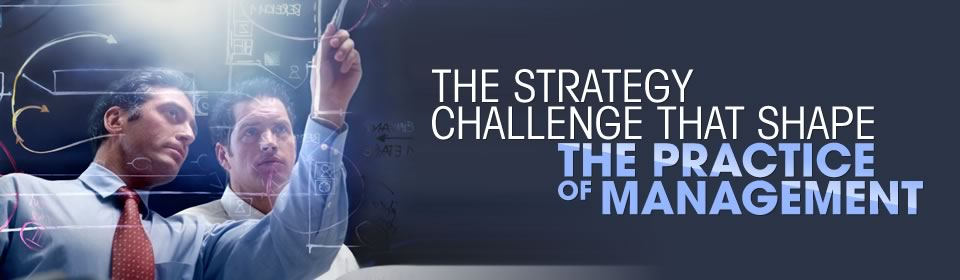 banner 4 - The strategy challenge that shape the practice of management