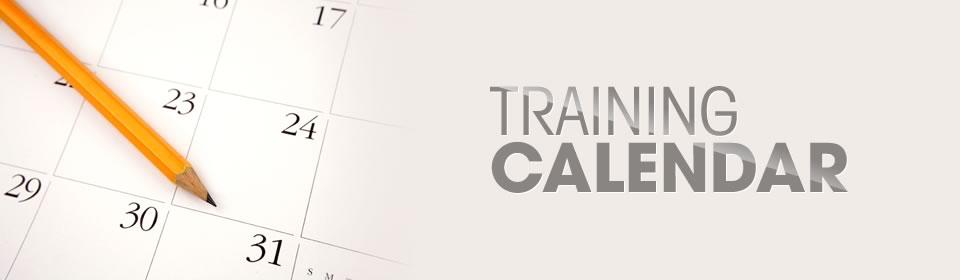 banner 5 - Training calendar