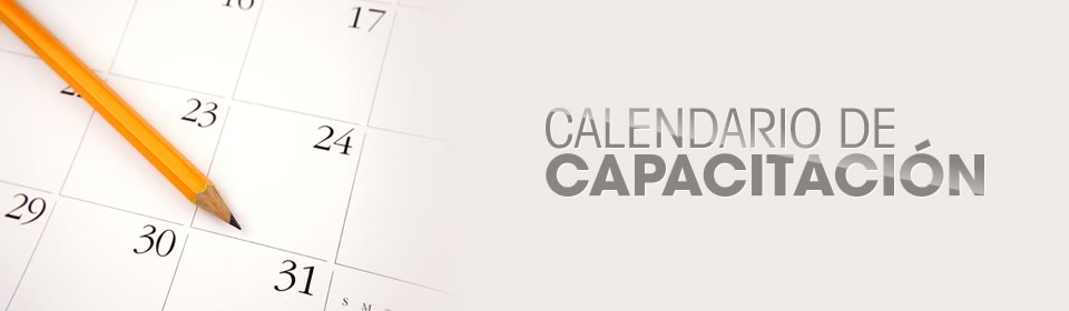 banner 5 - Calendario de capacitación