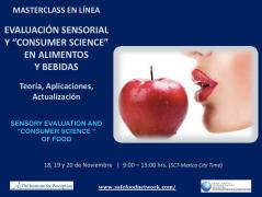 MASTERCLASS ONLINE  SENSORY EVALUATION AND CONSUMER SCIENCE OF FOODS AND BEVERAGES **
