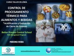 CURSO TALLER  EN LÍNEA CONTROL DE PROCESAMIENTO TÉRMICO PARA ALIMENTOS Y BEBIDAS *Alimentos Acidificados